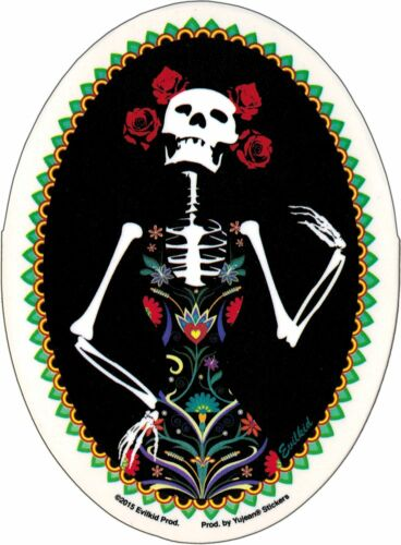 15898 Catrina Skeleton Girl Skull Day of the Dead Lady Evilkid Sticker Decal