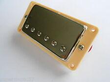 Chrome Guitar Humbucker Bridge Pickup For Les paul,SG,335 etc inc Cream Surround