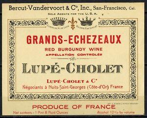 Ancienne Etiquette de Vin-Bourgogne-Nuits-Romanée-Ch.Moissenet-Brintet-Réf.n°248