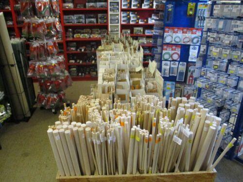 """UK Courier Post 1//2/"""" Hardwood Dowel 8 Pieces x 12mm Diameter x 36/"""" Long"""