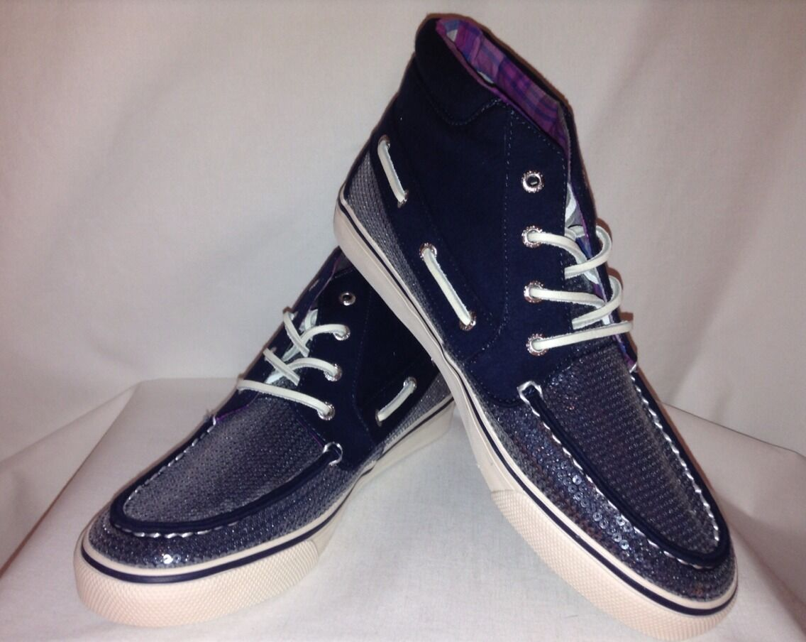 Sperry Top-Sider Betty Betty Betty Sequen Canvas Hash bluee navy Size 8 c5dd42