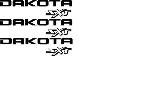 Dodge Dakota sxt decals 4X4 set of 3 any color sport factory size tailgate