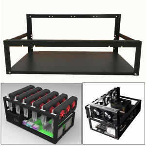 Coin-Open-Air-Mining-Miner-Frame-Rig-Case-Holder-For-6-GPU-ETH-BTC-Ethereums