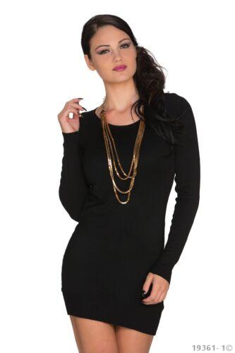 WOMEN/'S WEAR elegante fiocco sul retro Maglione Mini Abito Taglia UK 8-10 colori disponibili