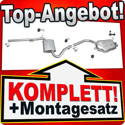 1.9 TDI 116 PS Stufenheck Avant Rohr Auspuffanlage U61 Auspuff AUDI A4 B6