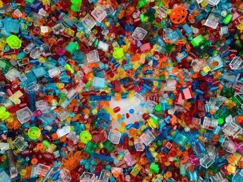 50 Tout Nouveau Mixte Petit Cône Plaque Brique Transparent Translucide Lego