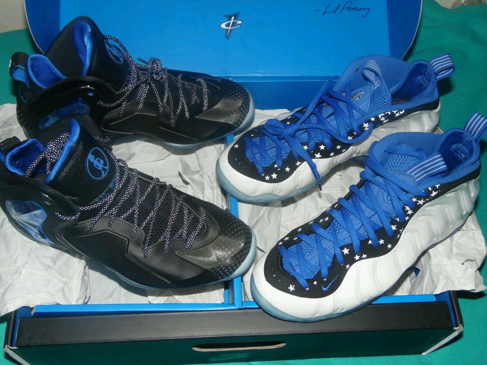 NIKE AIR FOAMPOSITE ONE SHOOTING STAR FOAMS 2 PACK PENNY HARDAWAY SIZE 11.5 RARE