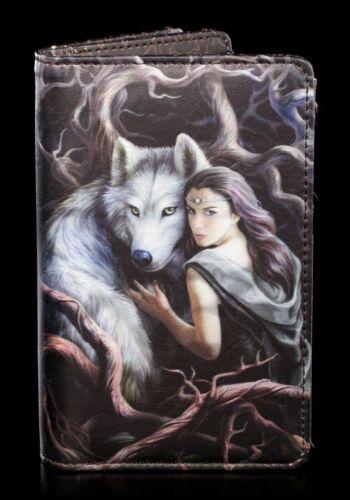 Soul Bond Geldbörse mit Wolf Anne Stokes Fantasy Geldbeutel Börse