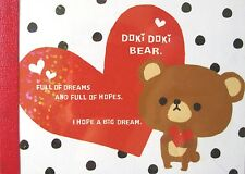 Crux Doki Doki Bear Mini Memo Pad~KAWAII!!