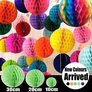 Tissue-paper-pom-pom-honeycomb-ball-lantern-wedding-party-home-decor-AU-Stock