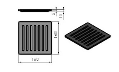 TT22 Ascherost Gussrost Tafelrost Ofen TermaTech Rost zu TT10 TT20