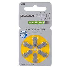 60 x Varta power one hörgerätebatterien 1,4v 100mah p10 10x6er-pack pr70