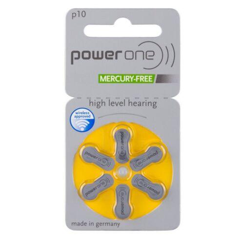 180 x Varta Power One Hörgerätebatterien 1,4V 100mAh P10 30x6er-Pack PR70