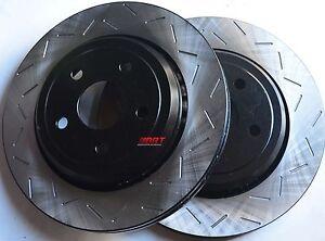 Fits-Lancer-Ralliart-Slotted-Brake-Rotors-Premium-Grade-Rear-Pair-302MMx10MM
