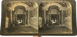 Libreria Vaticano Galerie Roma Italia Foto Stereo Vintage Analogica
