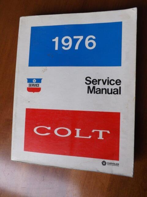 Colt Service Manual 1976 Chrysler Dodge Sub Compact Car