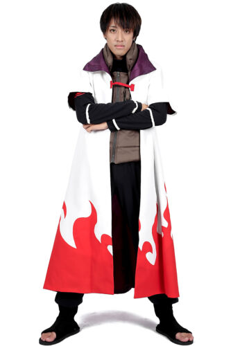 Naruto Shippuden Cosplay Costume Minato Namikaze 4th Ver Yondaime Hokage Outfit