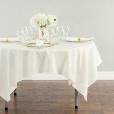 "Wedding cj Ivory 1 pc 72/""x72/"" Square Cloth Fabric Linen Tablecloth"