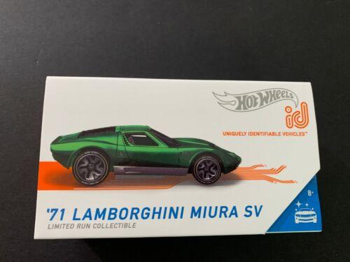 Hot Wheels Identificación Lamborghini Miura Sv 71 Verde Edición Limitada 1//64