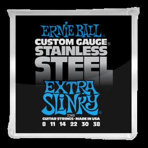 Ernie Ball Extra Slinky Stainless Acier Wound Cordes Pour Guitare Électrique 8-38-afficher Le Titre D'origine AgréAble Au Palais