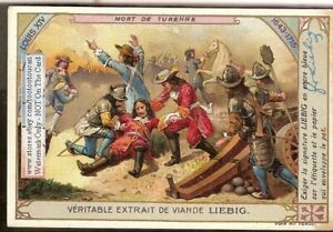 French-History-Mort-De-Turenne-Louis-XIV-c1910-Trade-Ad-Card