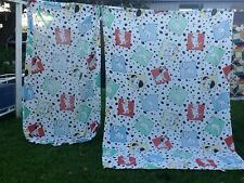 VINTAGE TWIN SIZE 101 DALMATIANS FLAT AND FITTED SHEET SET (NO PILLOWCASE)