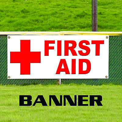 First Aid Medical Emergency Health Safety Red Cross Vinyl Banner Sign Ebay