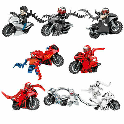 6pcs//lot Cartoon Motorcycles Figures Building Blocks Bricks Models Sets Toys