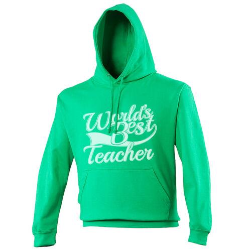 World/'s Best Teacher Gift Adults Mens Ladies Womens Unisex Hoodie