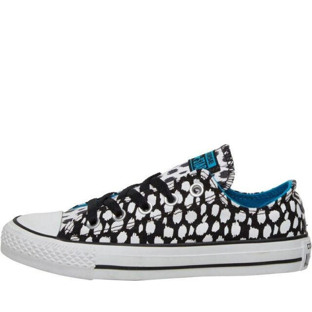 8b2a531cf0ff Converse CT All Star Ox Low Trainers Leopard Animal Black White Size UK 3.5  NEW
