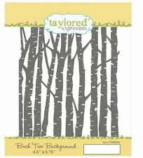 Taylored Expressions Rubber Stamp Set ~ BIRCH TREE BACKGROUND  - Woods  ~TEBB08
