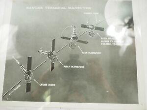 Ranger-Terminal-Maneuver-Original-Nasa-Foto-1961-Blanco-y-Negro-20-3cmx25-4cm
