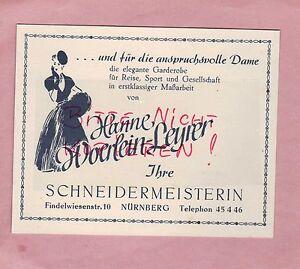 Stoffe Nürnberg nürnberg werbung 1949 hanne woerlein leyrer garderobe stoffe damen