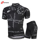 Men's Cycling Bike Short Sleeve Clothing Set Bicycle Sports Kits Jersey & Shorts