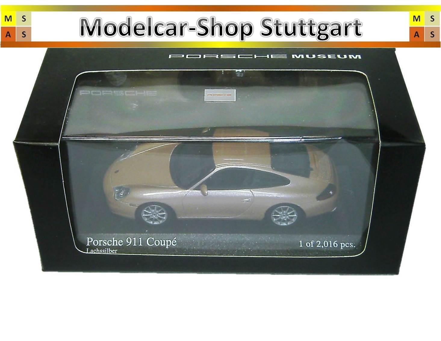 Porsche 911 Coupé Lachssilber Museum Edition Minichamps 1 43 neu  | Good Design