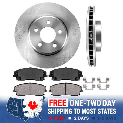 Front Brake Rotors Calipers Ceramic Pads For 300 DODGE CHALLENGER CHARGER MAGNUM