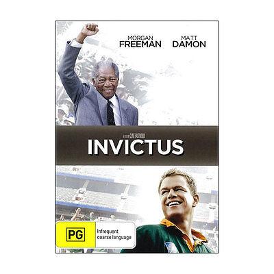 Invictus  DVD  Brand New Aus Region 4 - Matt Damon,  Morgan Freeman
