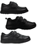 Boys-Black-School-Shoes-PU-Leather-Hook-amp-Loop-Dress-Formal-Easy-On-UK-Size-10-5 thumbnail 1
