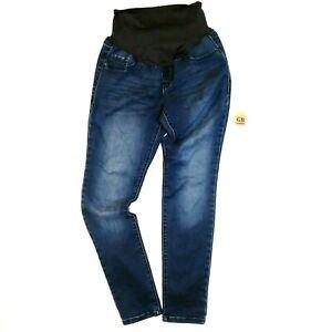 8 Size Women S Jeans Maternity Pants Old Navy Blue Super Skinny Stretch Denim Ebay