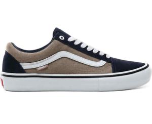 Details zu VANS OLD SKOOL PRO VN0A45JCUZ01 Blue Beige Sneaker Lo Top Skate