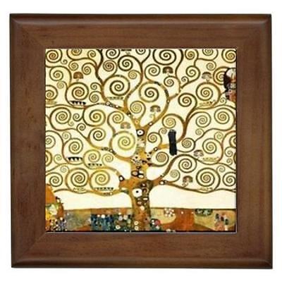 Gustav Klimt The Tree of Life Framed Tile Wall Picture