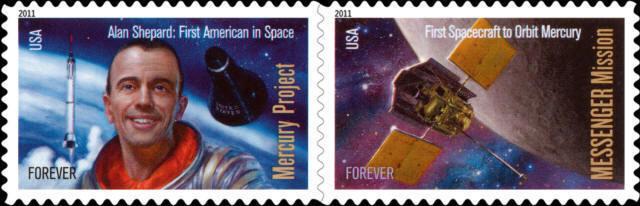 2011 44c Mercury Project & Messenger Mission, Pair Scot