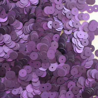 6mm Cup Sequins Purple Matte Silk Frost Made in USA