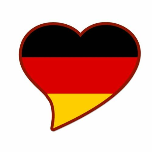 "Germany black Flag Heart car window bumper sticker decal 5/"" x 3/"""