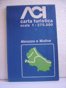 Cartina Stradale Abruzzo Molise.Abruzzo Molise Carta Turistica Stradale Scala 1 275 000 Aci 1982 Ebay