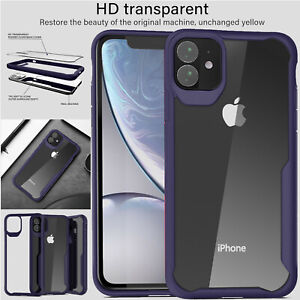 Antichoc-Transparent-Etui-pour-IPHONE-11-Pro-Max-Armure-Hybride-PC-Rigide-GB