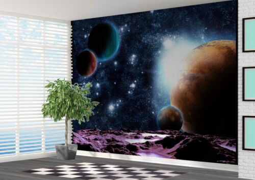 11720919 Space Galaxy Space Planets Moons Wallpaper wall mural art photo