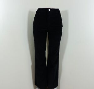 NYDJ-Not-Your-Daughters-Jeans-Barbara-Bootcut-Size-12P-Black-Corduroy-EUC