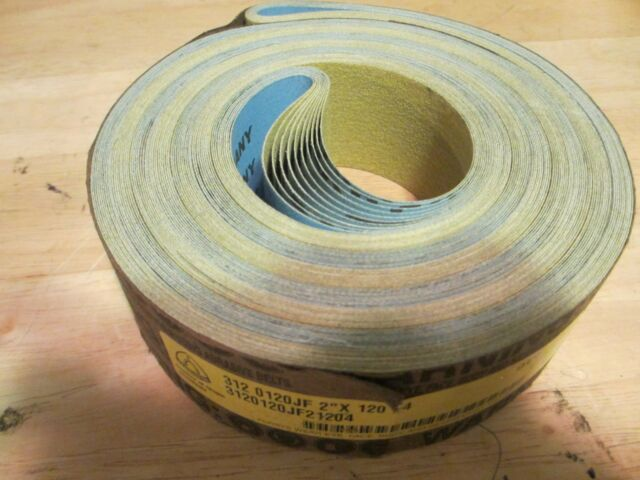 """12 Zirconia 60 grit 1//2/"""" x 24/"""" Cloth Abrasive Belts Air File Germany"""