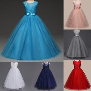 2a6536f0f73c7 Enfants fille Pageant mariage demoiselle d honneur formelle robe ...